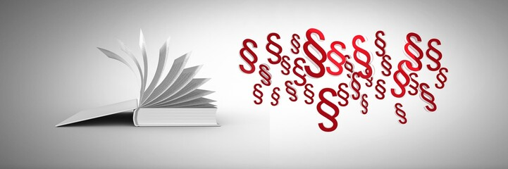3D Section symbol icons and open book page turning