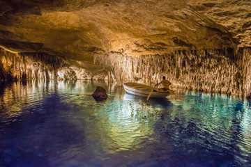 Cuevas del Drach on Majorca Island, Spain