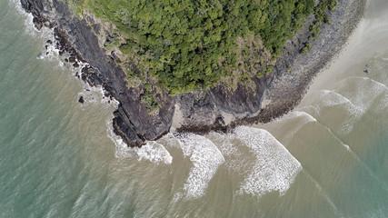 Australia, Queensland, Aerial view of coastline