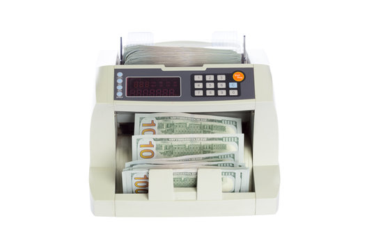 money counter isolated on white