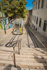 Portugal Lisbon one of city elevator trams