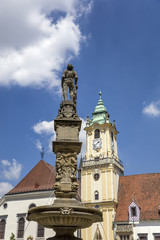 Roland Fountain in Bratislava, Slovakia