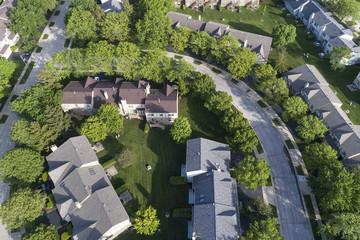 Suburban Townhouse Neighborhood Aerial