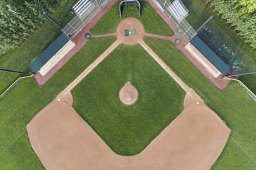 Overhead Baseball Diamond View
