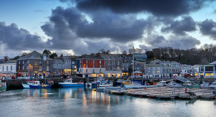 Padstow in north Cornwall in the south west of England