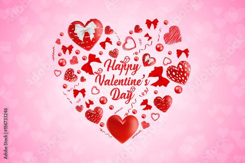 Creative Concept Happy Valentines Day. Creative Valentine\'s Day ...