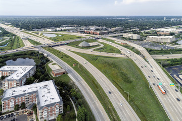 Suburban Overpass and Highway