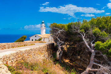 Capdepera Lighthouse in Mallorca Spain