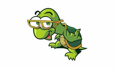 Funny Metal Hand Turtle Cartoon