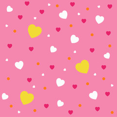 love pattern full color