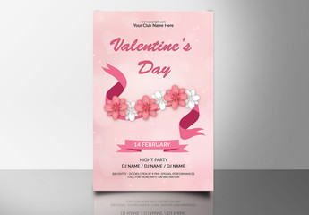 Valentine's Day Party Flyer 9