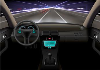 Car Interior Night