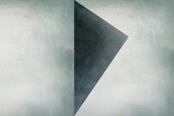 Dreieck auf heller Wand - Abstrakter Hintergrund - Grafik Design