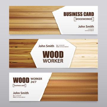 Wooden Finishing Horizontal Banners