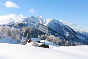Wall Mural - White winter landscape. Austrian Alps