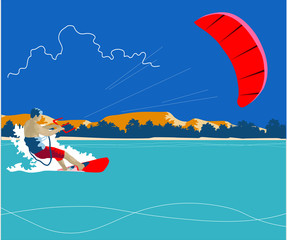 Kiteboarding background