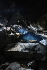 Hot spring in cave