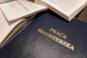 Obraz Magister obrona- pisanie pracy dyplomowej - fototapety do salonu