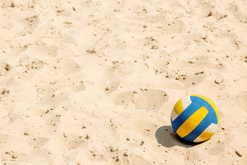 Volleyball on empty beach