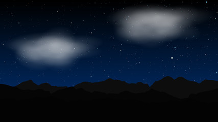 Star night landscape Vector