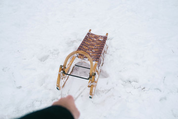 Hand pulling sled