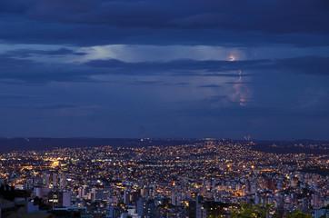 A great city at night