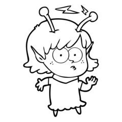 cartoon alien girl