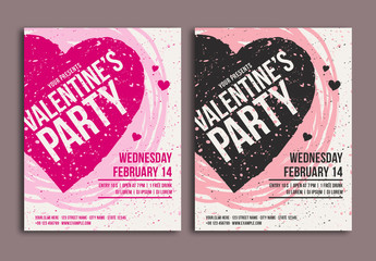 Valentine's Day Party Flyer 2