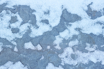 Bluestone Shale with Light Snow Cover Abstract Texture Closeup Texture