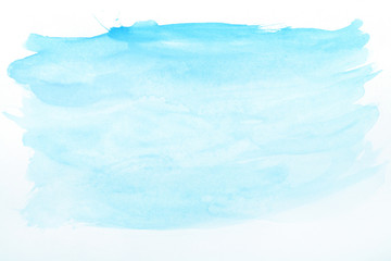 Blue watercolor horizontal gradient background. The middle is lighter than other sides of the image.