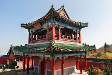 Buddhist temple on the Tienmen Mountain in China