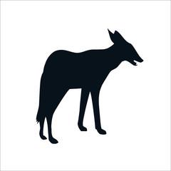 Coyote icon. Vector Illustration