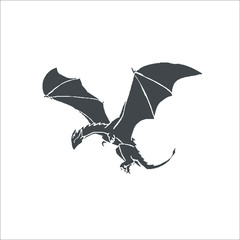 Flying dragon icon