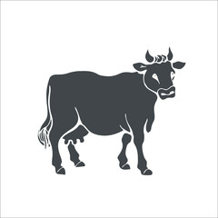 Cow icon. Vector Illustration