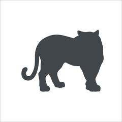 Tiger icon. Vector Illustration