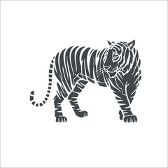 Tiger icon. Vector Illustration