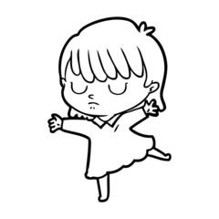 cartoon woman