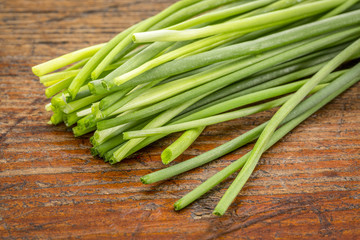 bunch of fresh green chives
