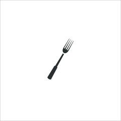 Fork icon.  Illustration