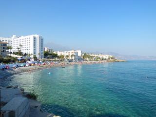 Nerja, localidad turística de Malaga ubicada en la Costa del Sol, al sur de España