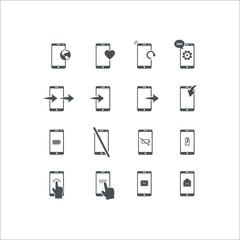Phone icon. Flat  icon set