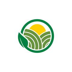 Clean farm agriculture logo design concept