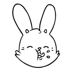 cartoon funny rabbit face