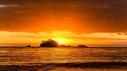 Sunrise Seascape with Island