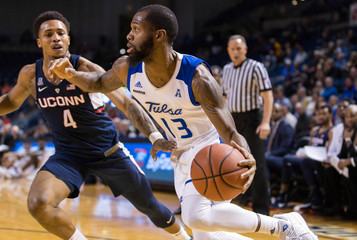 NCAA Basketball: Connecticut at Tulsa