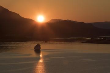 Juneau Alaska Golden Summer Sunset