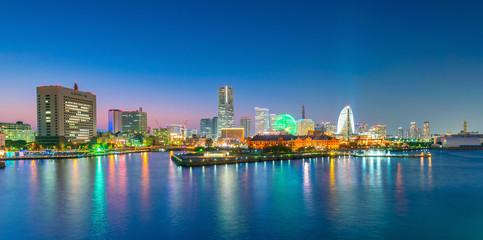 Fototapete - Cityscape of  Yokohama in Japan