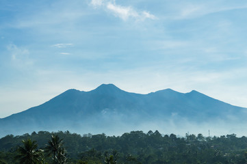 mount gede on the background