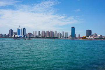 The beautiful seaside scenery of Qingdao