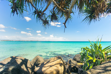 Amazing blue water at Coolangatta on the Gold Coast in Queensland, Australia
